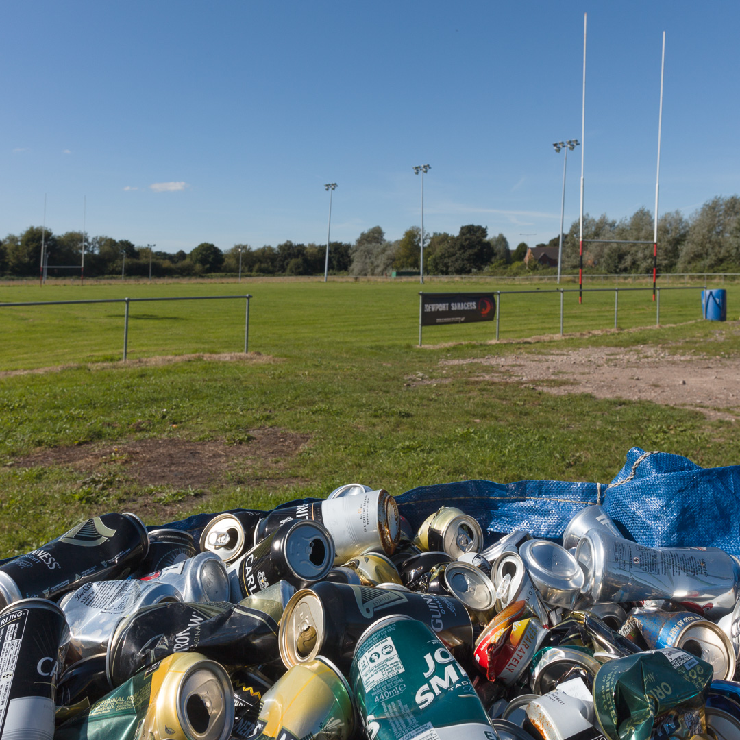 Maes-glas Fields, grounds of the Newport Saracens a Welsh rugby union club, Gwent.