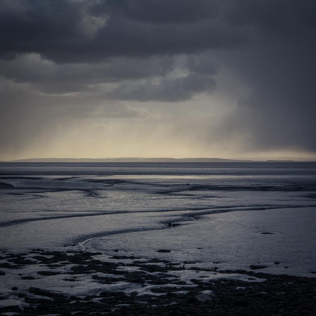 Rain above the Severn & Cardiff Flats, Gwent.