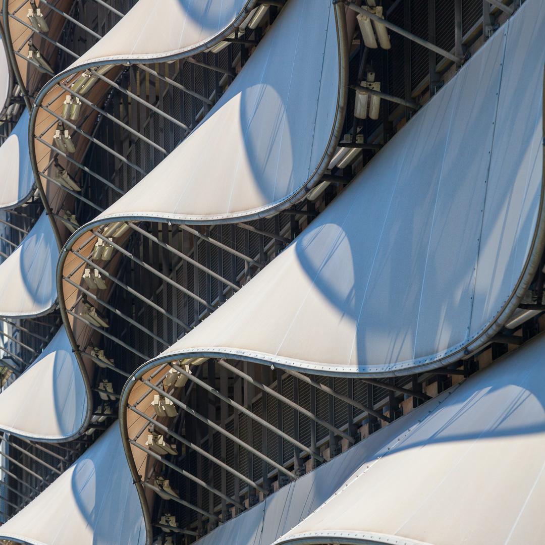 The Wave Car park, Cardiff Bay. Architect: Scott Brownrigg.