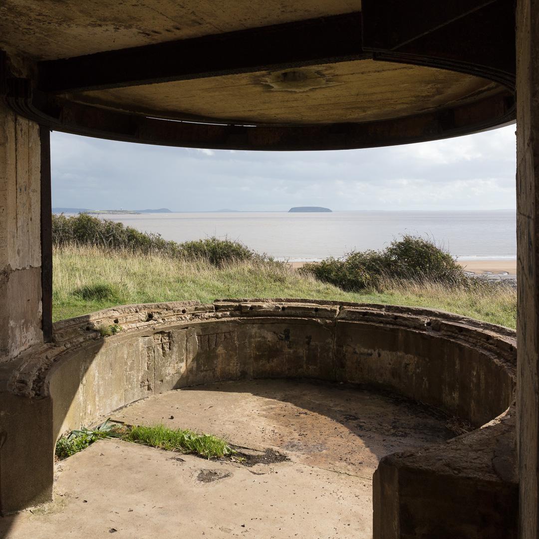 Lavernock Point WW2 Searchlight position, Glamorgan.