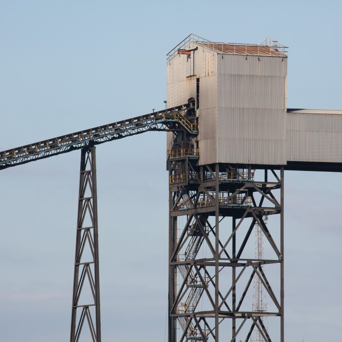 Coal conveyer house, Tata Steelworks, Port Talbot, Glamorgan.