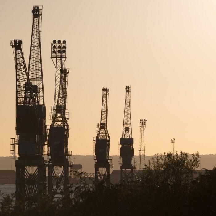 Port of Swansea cranes, Glamorgan.