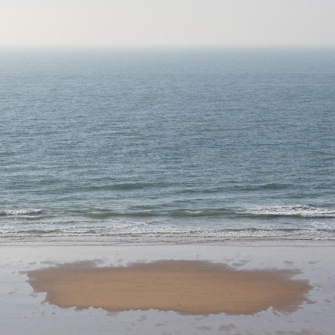 Drying sand, Langland Bay, Gower, Glamorgan.