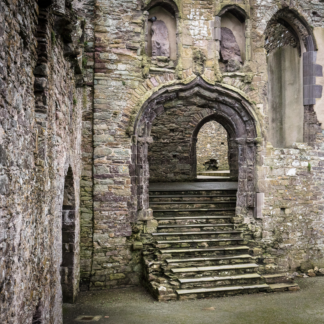 Entrance to the Great Hall of the Bishop's Palace, St David's, Pembrokeshire.