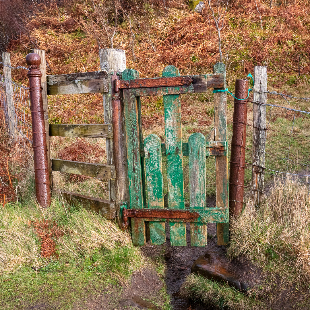 Gate from Camas an Daraich, Lochaber, Scotland.