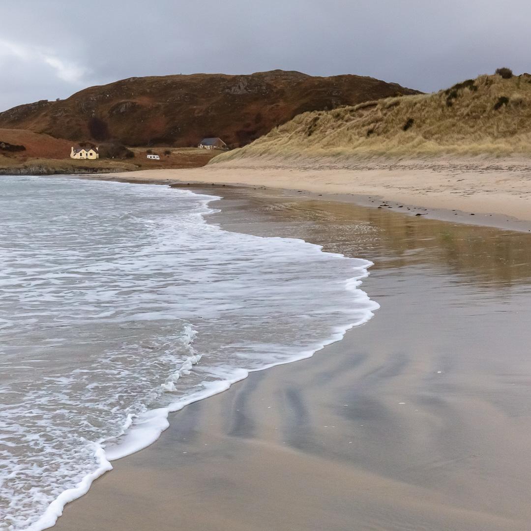 Camusdarach Beach, or Ben's Beach in the film Local Hero, Lochab