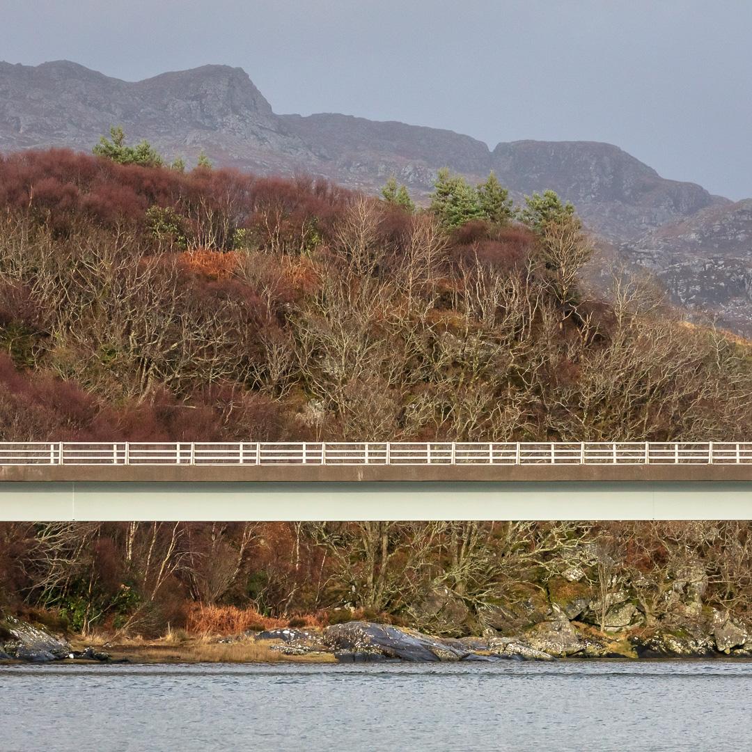 Bridge over the River Morar, Lochaber, Scotland.