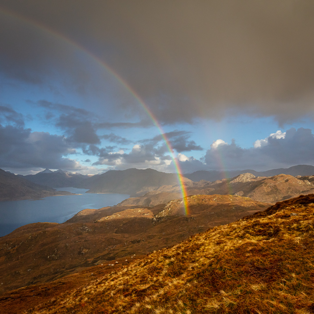 Hailbow over Loch Nevis and the Rough Bounds, North Morar, Scotl