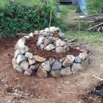 Building a Herb Spiral Ajusting Soil
