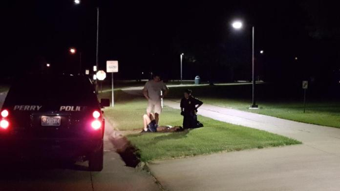Perry Police Department officers used a Taser electroshock weapon on a man near Wiese Park in Perry about midnight Sunday night.