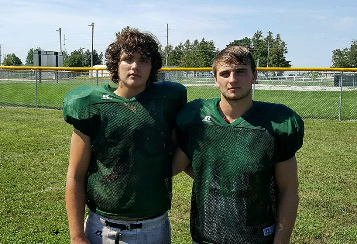 W-G junior Joe Sturgeon (left) and senior Tanner Vermaas were selected by the INA for Class 1A Third Team All-State honors Sunday.