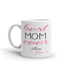 personalized mom mug with text