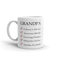 personalized grandfather mug with different texts