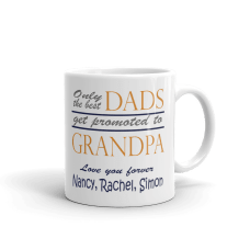 personalized grandpa mug with text and grandchildren name
