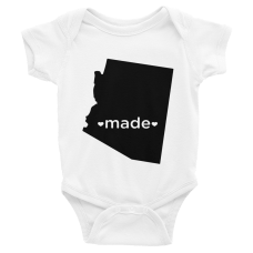 personalized baby onesie with home state