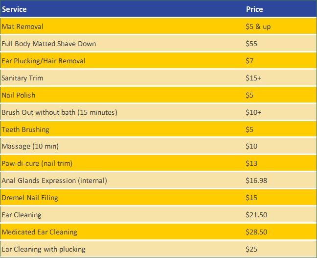 Pet Spa Service Pricing