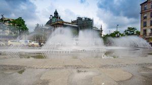 Fountain at the Marienplatz in Munich