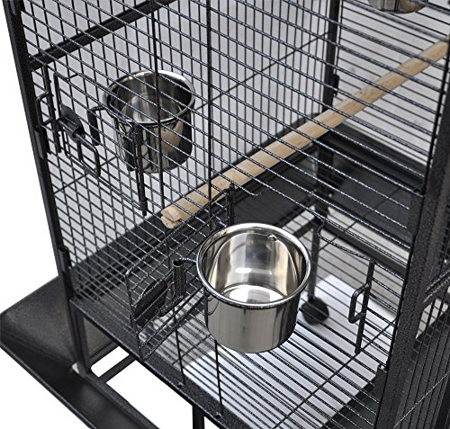 Yaheetech Pet Bird Cage Play Top Parrot Cockatiel Cockatoo