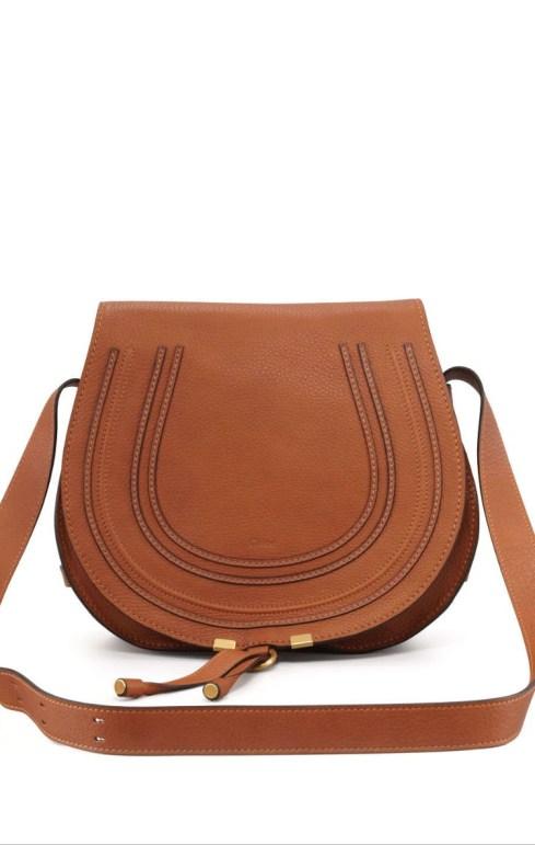 Chloe Marcie Medium Crossbody Satchel Bag, Tan $1,395