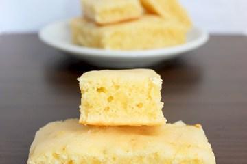 Lemon Blondies, dairy-free light alternative to brownies - Recipe from thepetitecook.com