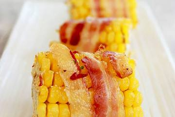 Bacon wrapped corn on the cob - easter bbq recipe - by the petite cook