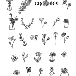 25 Floral Doodles For Your Bullet Journal The Petite Planner