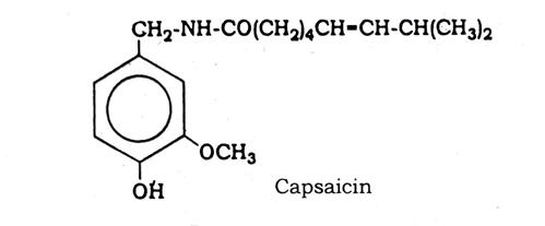 Chemical constituents Capsicum