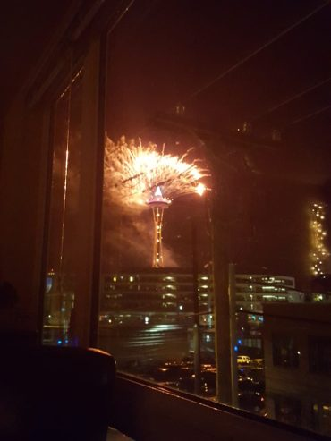 New Year's 2016 in Seattle: a view from the PhCheese's former apartment living room.