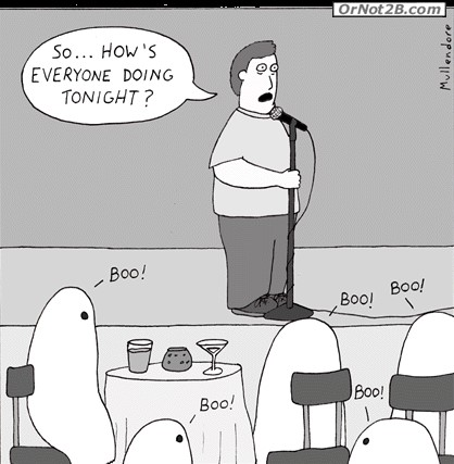 Phil found his time as a ghost comedian to be both odd and confusing.