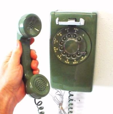 vintage-telephone-green-rotary-dial-wall-phone-clean_350414569225