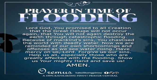 prayer in time of flooding