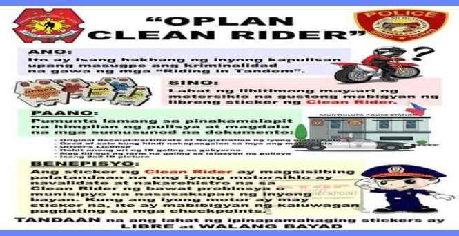 oplan clean rider