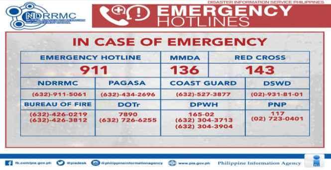 philippine emergency hotlines