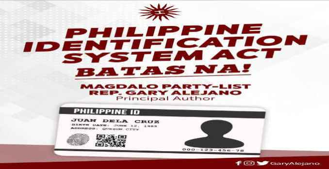 RA 11055 Philippine ID System Act