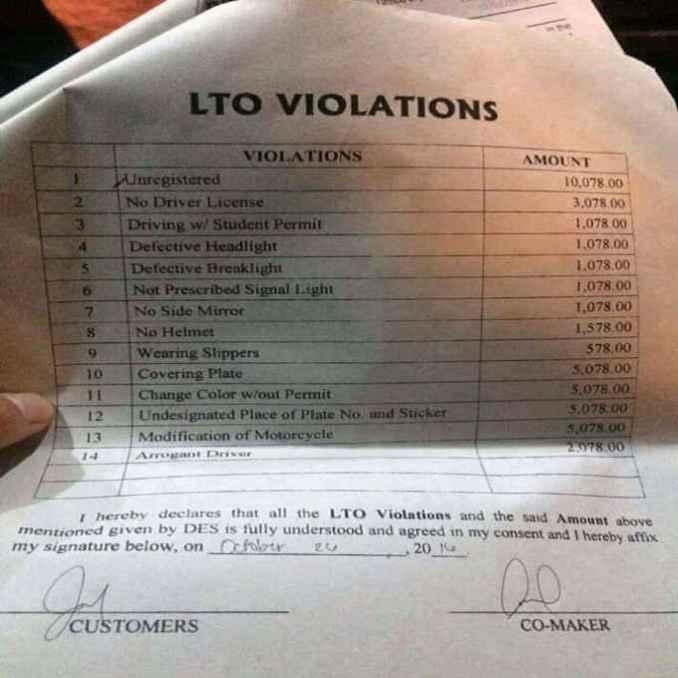 lto violation