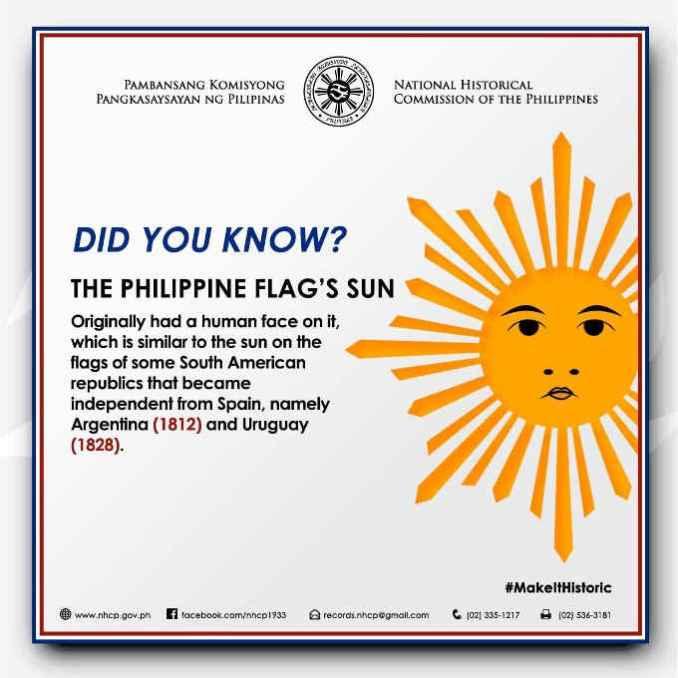 philippine flag's sun