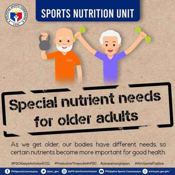 special nutrients need for older adults