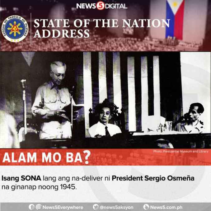president who delivered only one sona