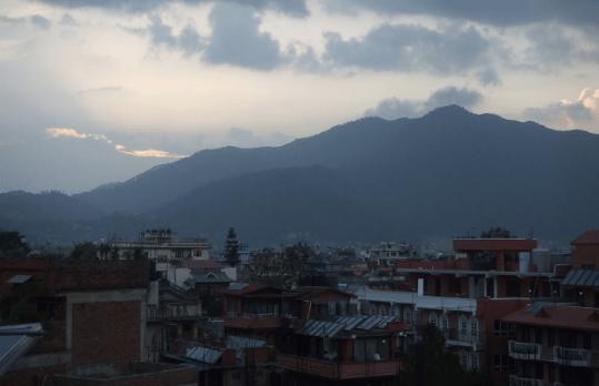 Katmandu as the sun sets