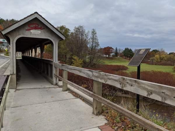 Stowe, Vermont Covered Bridge (Photo)