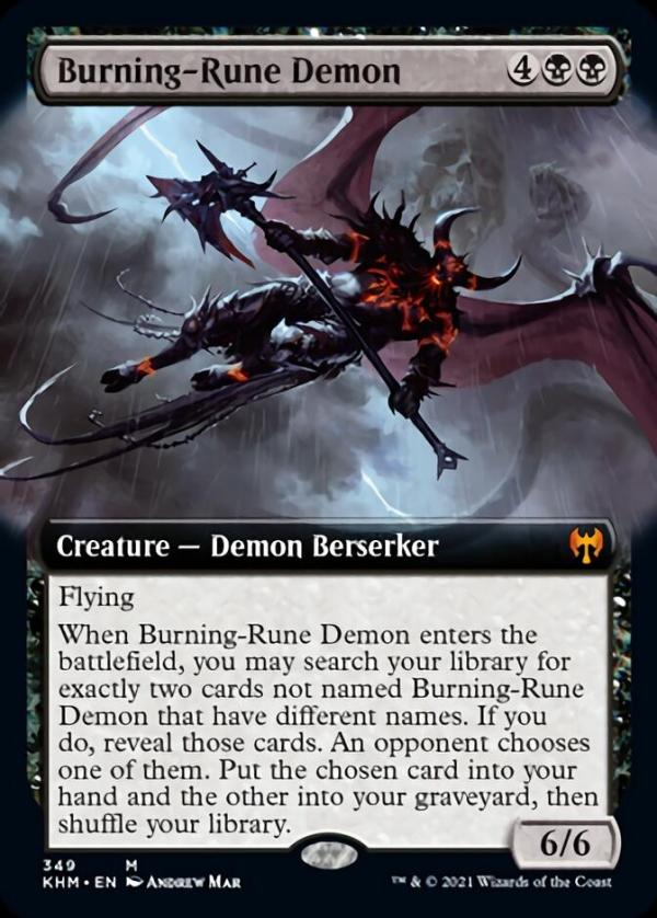 Burning-Rune Demon – A Magic the Gathering Card Review