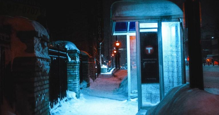 snowy scene in minneapolis