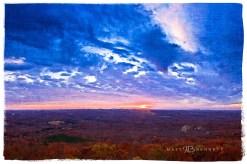 Sunset from Shephard's Mountain.