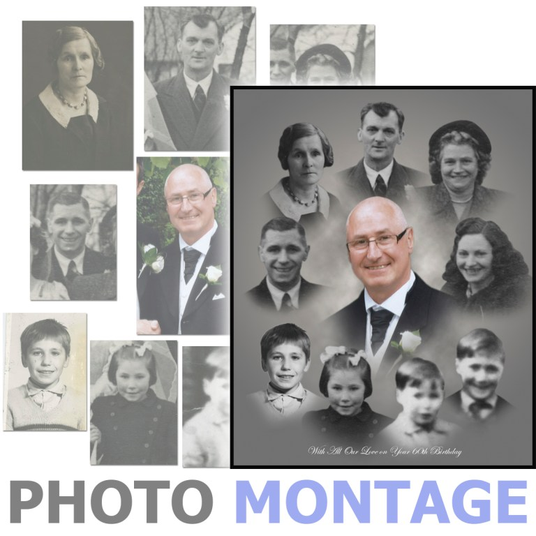 Photo montage of a group of people