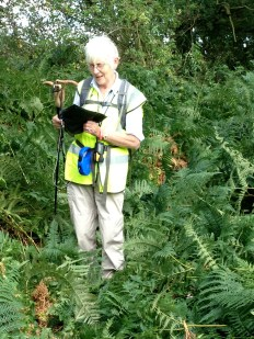 Jane Benyon discovering a footpath