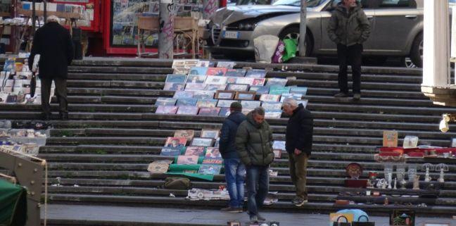 Post office steps in Naples