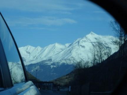 The Alps towards Italy
