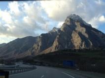 The Alps towards France
