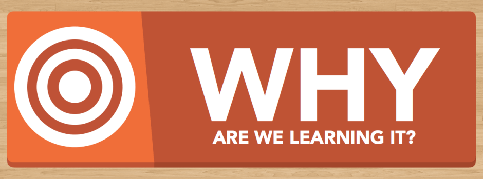 Why Are We Learning It?