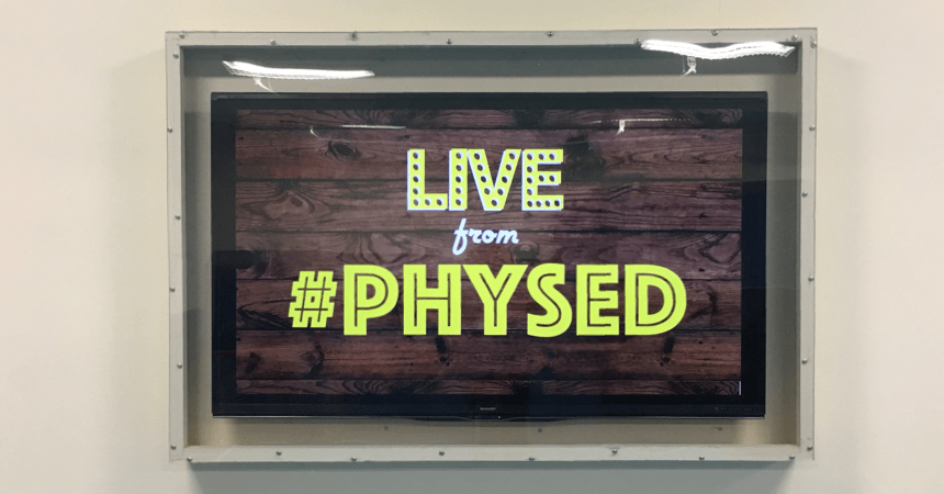 Physical Education TV Setup Front Screen